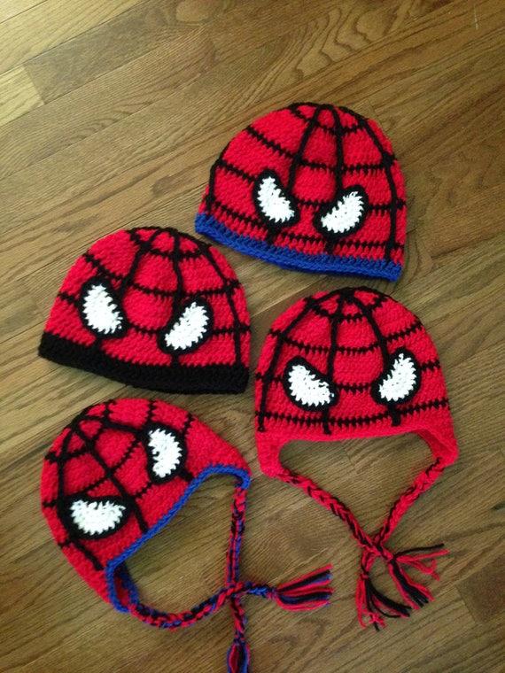 Spiderman Inspired Superheroes Ear Flap Hat Superhero Spider