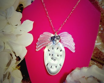 Sterling Silver Plated Spoon Necklace