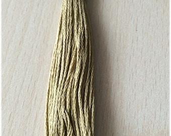 DMC stranded 370 medium mustard green six strands