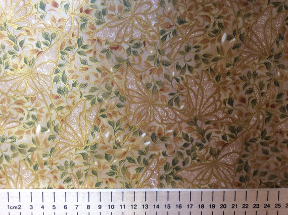 High quality cotton poplin, Japanese gold print