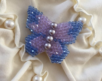 Handmade butterfly brooch