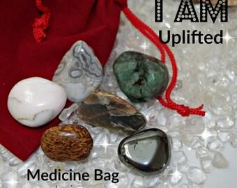 Uplifting Crystal Medicine Bag I AM Uplifted from Emotional Trauma