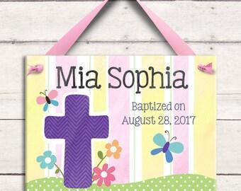 Personalized Baptism - Baptism Gift - Dedication Gift - Christening Gift - Cross - Goddaughter - Godchild - Godparents - Baptism Invitation