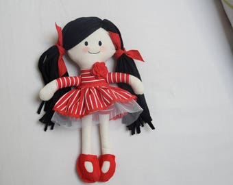Fabric doll, cloth doll, handmade doll