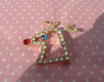 Rudolph with your Nose so Bright Brooch