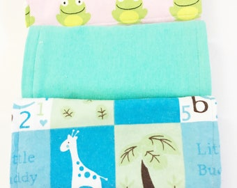 Frogs Burp Cloths, Safari Theme Burp Cloths, Unisex Burp Cloths, Baby Shower Gifts, Gifts For New Moms, Babies Burp Cloths, Burp Cloths