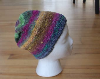 Adult size handknit slouchy beanie