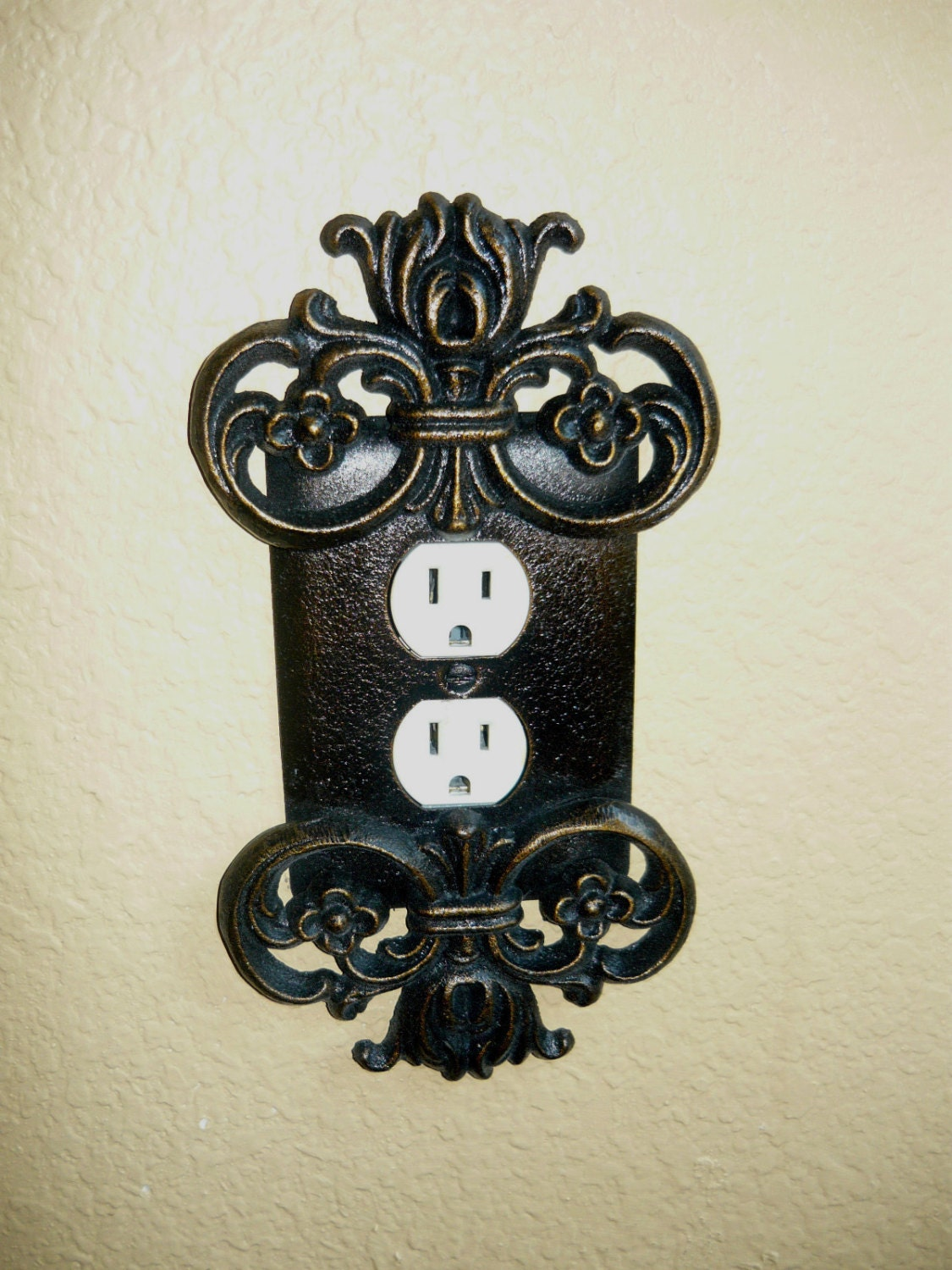 Outlet cover outlet plate switch plate old world request a custom order and have something made just for you sciox Image collections