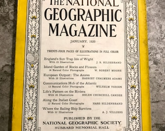 January 1935 National Geographic Magazine
