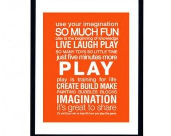 Custom Play Room Art Print