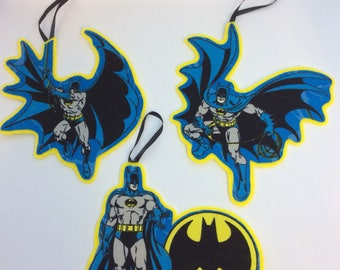 Set of 3 DCs Batman Ornaments