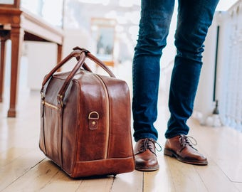 Leather Duffel Bag, Duffel Bag, Overnighter, Brown Weekender, Holdall, Duffle, Overnight Bag, Gym Bag, Travel Leather Duffle, Gift