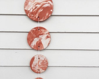 Large Marble Terracotta Clay Wall Hanging