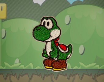 Yoshi -- Embroidered Iron-on Patch from Nintendo's Mario Brothers