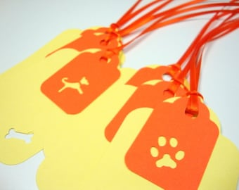 Gift Dog Tags in Yellow and Orange