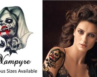 Vampyre - Temporary Tattoo