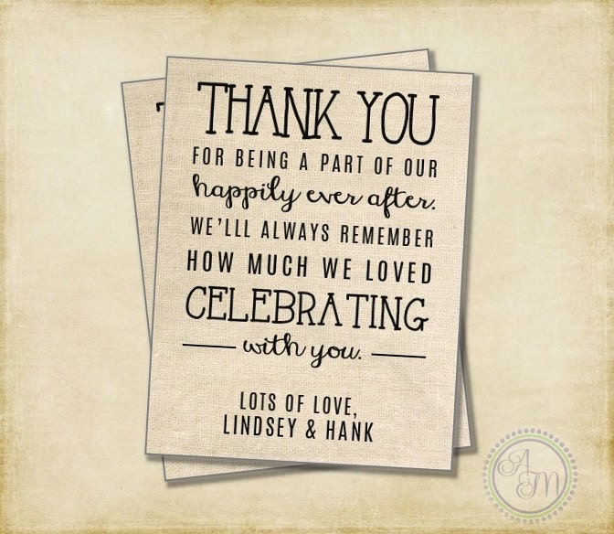 Wedding thank you note welcome bag wedding favor hotel gift zoom junglespirit Images