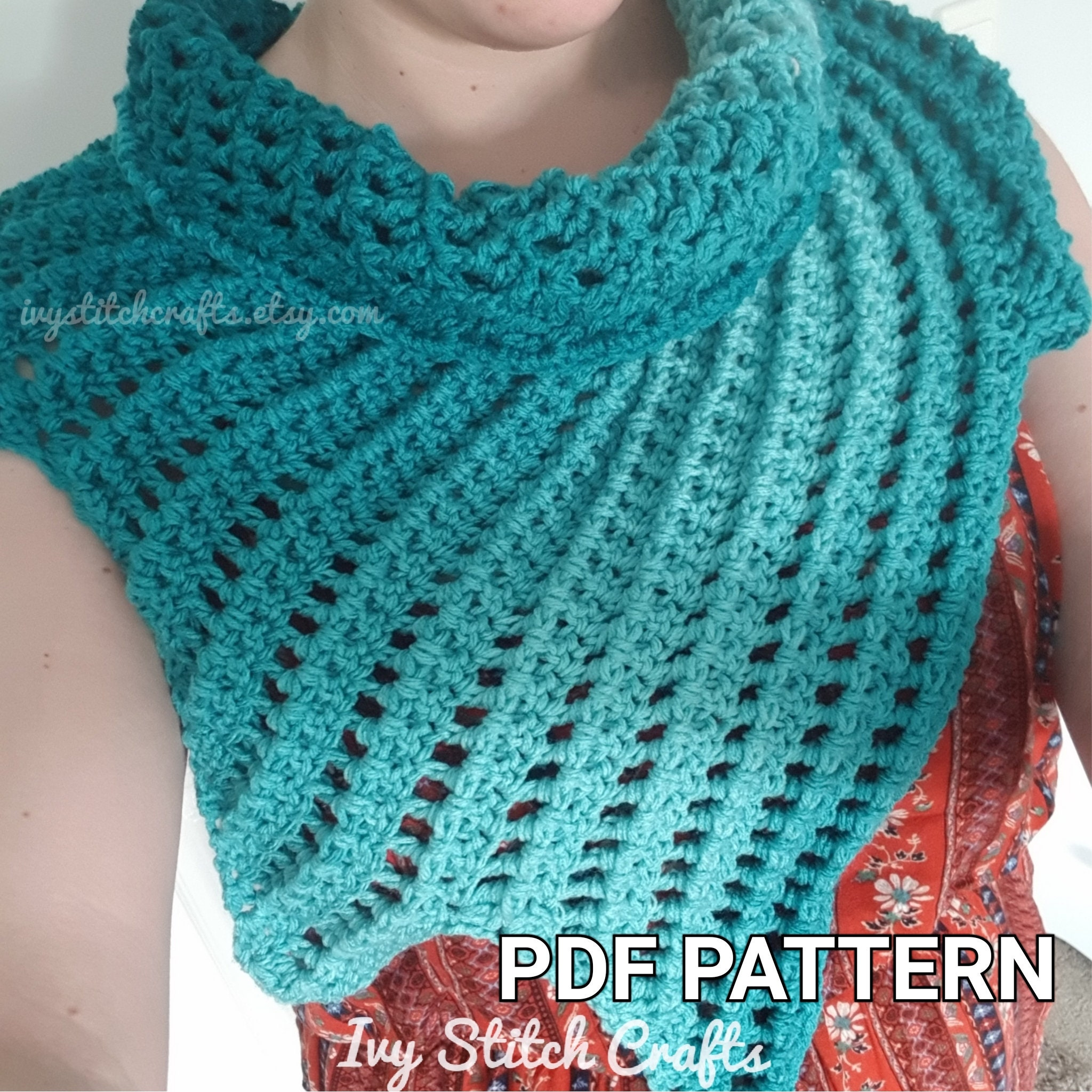 Crochet Dragon Wing Capelet Scarf Pattern / Winter Shawl / Cape ...