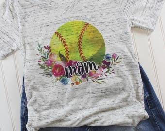 Softball Shirt/ Baseball Shirt/ Women Graphic Tee/ Baseball Mom Shirt/ V neck shirt/ Women graphic tee/ Game Day Shirt/ Custom Baseball