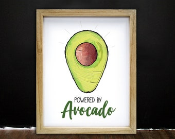Avocado Addict, Kitchen Art, Kitchen Decor, Pun, Housewarming gift