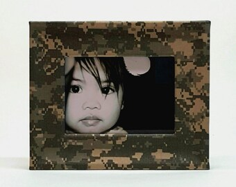 Hand Wrapped Military Grade Camouflage Fabric Frame