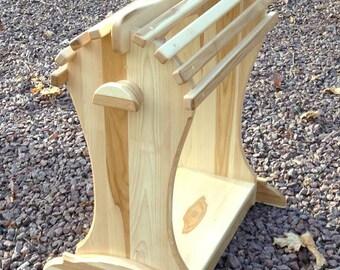 Floor standing saddle rack