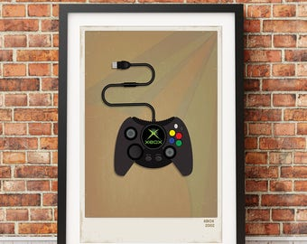 Retro Xbox Video Game Print
