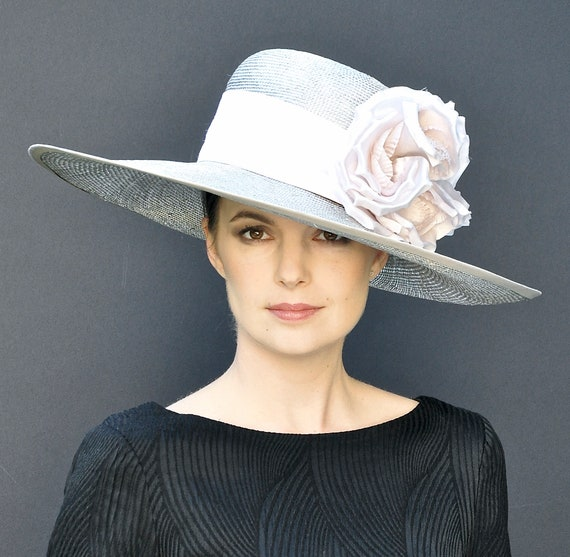 Kentucky Derby Hat, Wedding Hat, Wide Brim Hat, Church Hat. Formal Hat, Derby Hat, Ascot Hat, Occasion Hat, mother of bride hat