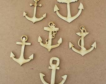 Anchors -unfinished wood cutouts (6 pieces)