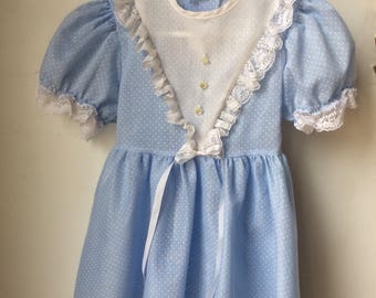 Vintage Blue Girls Dress