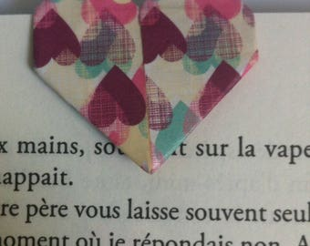 Made of origami heart bookmark
