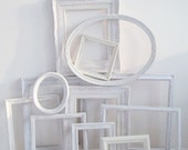 White Shabby Chic Picture Frame Set - Farmhouse Decor- Bedroom Wall Frames-Wedding Frame- Ornate Frame- Nursery Decor-Gallery Wall Frame Set