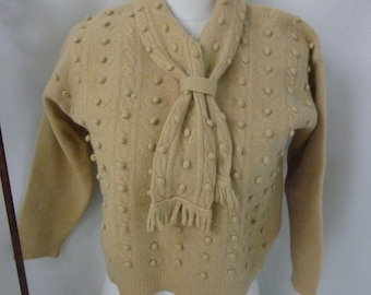 Late 40's early 50's Mustard Gold Wool Sweater