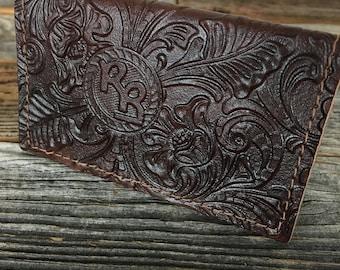 Roy Rogers Dark Brown Leather Wallet Bi-Fold