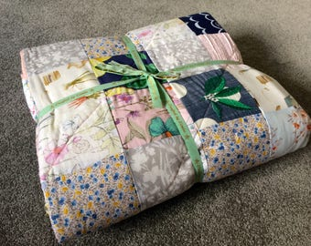 Made to Order Patchwork Quilts from Clients Boys and Girls Clothes - Single Bed Size