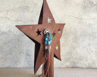 Tree Topper Star Rusty Metal, Southwestern Decor Rustic Tree Topper Primitive Christmas