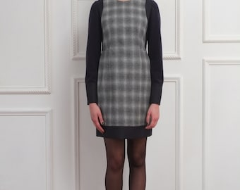 Angenehm check Dress  -  DRIZZLE NAVY