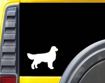 Golden Retreiver Dog Window Decal Sticker *J582*