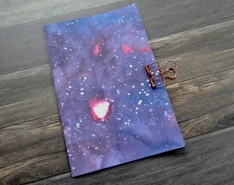Red and Blue Galaxy Travelers Notebook Insert - Midori Insert - Notebook - TN Insert - Planning Insert - Bullet Journal - Various Size