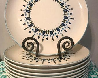 "Mid Century Stetson Marcrest Alpine Swiss Chalet Round Platter Charger Chop Plate  11-1/2"" diameter"