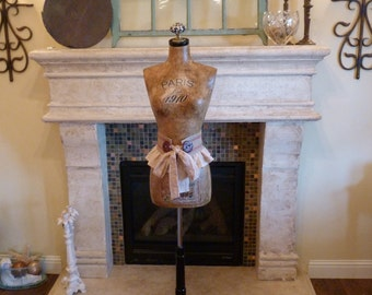 Vintage Inspired Dress Form Mannequin French Paris Art   Free Shipping/Layaway Available