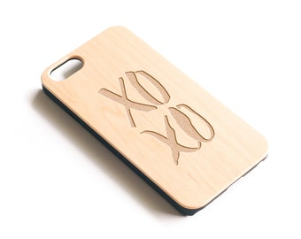 XOXO, iPhone Case, XOXO, Hugs And Kisses, Valentines Day, Fashion iPhone Case, iPhone Case Women, For Women, For Girls, Gift For Her, Wood