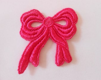 Lace bow pink of 4.5 cm
