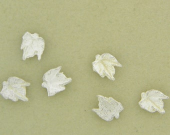 leaf casting, tiny grape leaves, small leaves, sterling findings, cast silver, grape leaves, sterling silver UL048-6