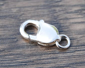 Sterling Silver 18mm Lobster Claw Clasp DB1X