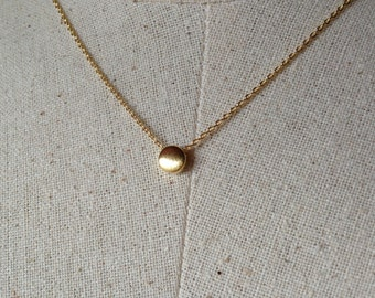 Gold Dot Necklace, 14k Gold plated, Dainty Necklace, Tiny Dot Necklace