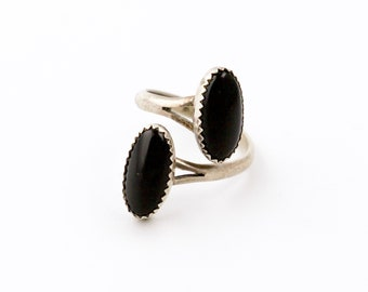 Wicked Twin Black Onyx Sterling Silver Ring