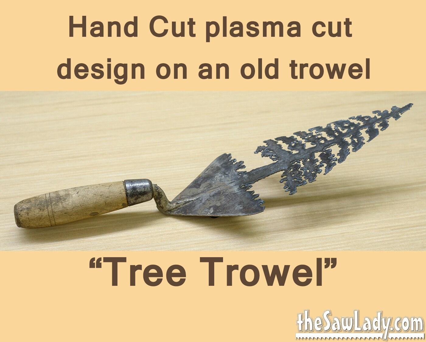 Metal Art Trowel with Pine Tree Design Hand plasma Cut