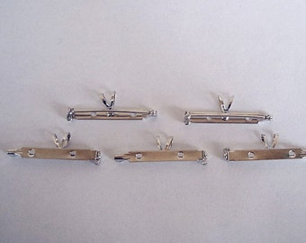 """6 Brooch Pin Backs with Bails - 1 1/2"""""""