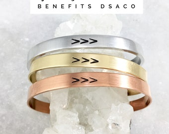 Jewelry for a Cause | DSACO | Down Syndrome Association of Central Ohio | The Lucky Few | Three Arrows | Adjustable Cuff Bracelet